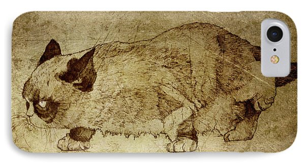 Male Cat Hunts At Night IPhone Case by Daniel Yakubovich