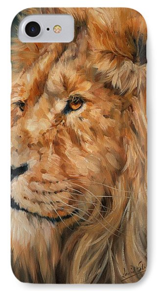 Male Lion Phone Case by David Stribbling
