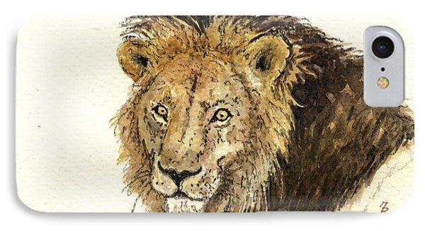 Male Lion IPhone Case by Juan  Bosco