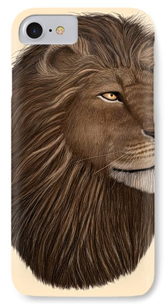 Male Lion Portrait IPhone Case by Walter Colvin
