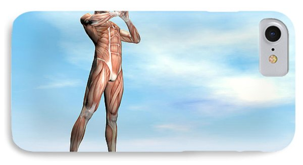 Male Musculature Standing On The Green Phone Case by Elena Duvernay