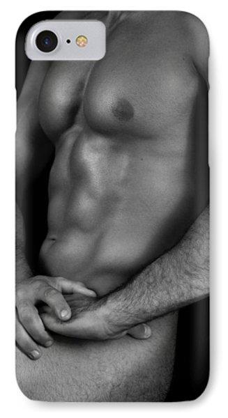 Male Nude  IPhone Case by Mark Ashkenazi