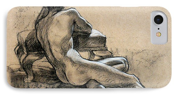 Male Nude IPhone Case by Roz McQuillan