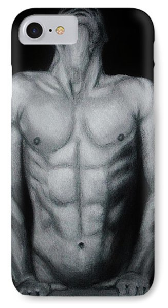 Male Nude Study IPhone Case by Michael Cross