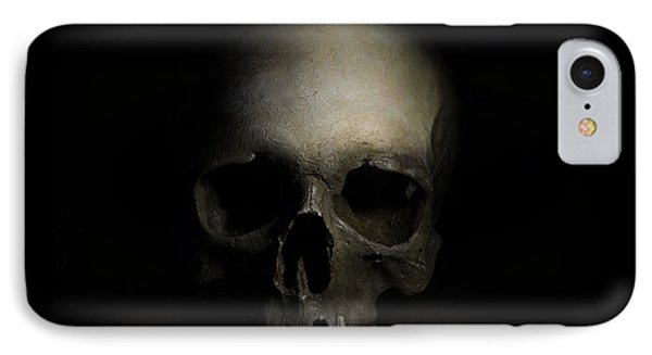 Male Skull IPhone Case by Jaroslaw Blaminsky