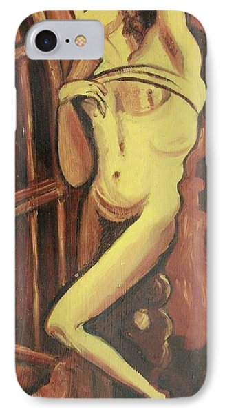 Male Statue IPhone Case by Suzanne  Marie Leclair