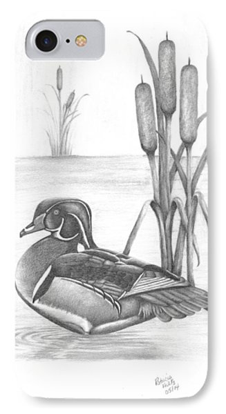 Male Wood Duck IPhone Case by Patricia Hiltz