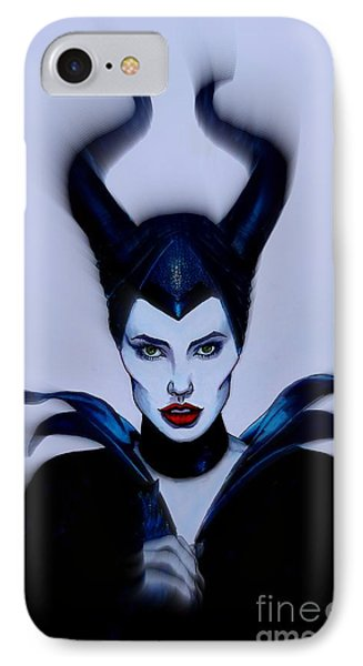 Maleficent Focused IPhone Case by Justin Moore