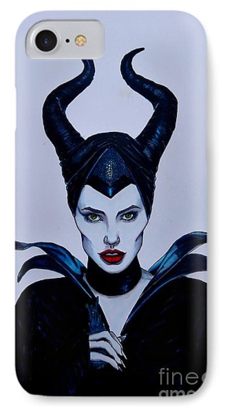 Maleficent IPhone Case by Justin Moore