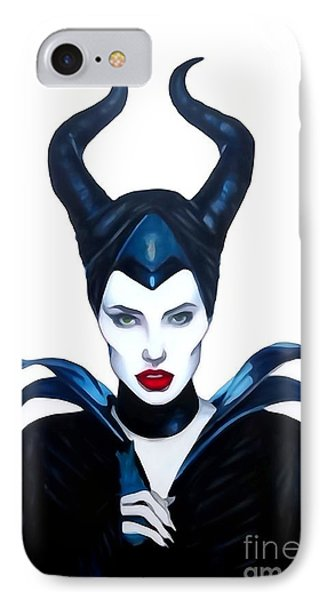 Maleficent Watercolor IPhone Case by Justin Moore