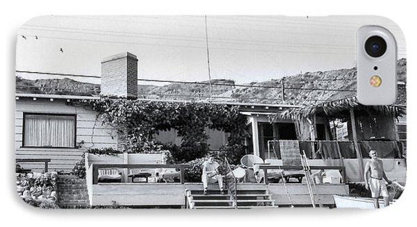 Malibu Beach House - 1960 IPhone Case by Chuck Staley
