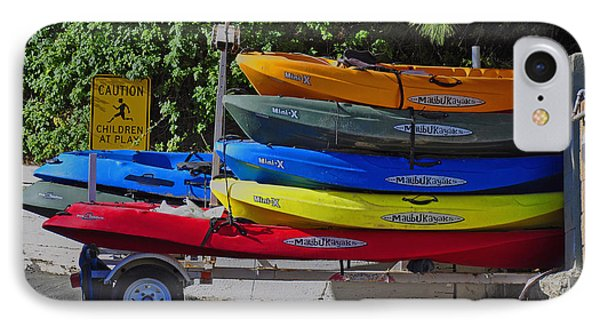 IPhone Case featuring the digital art Malibu Kayaks by Gandz Photography