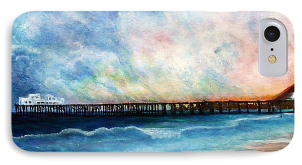 Malibu Pier IPhone Case by Pilar  Martinez-Byrne