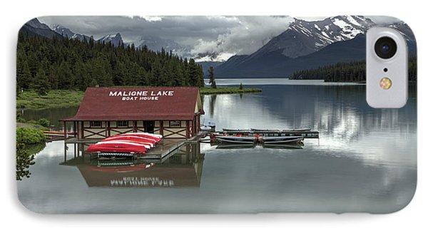 Maligne Lake Jasper Park IPhone Case by Diane Dugas