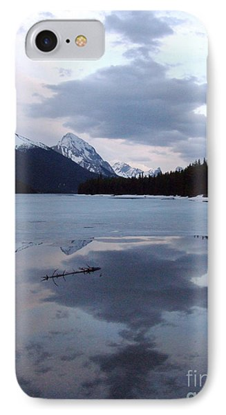 Maligne Lake - Reflections IPhone Case by Phil Banks