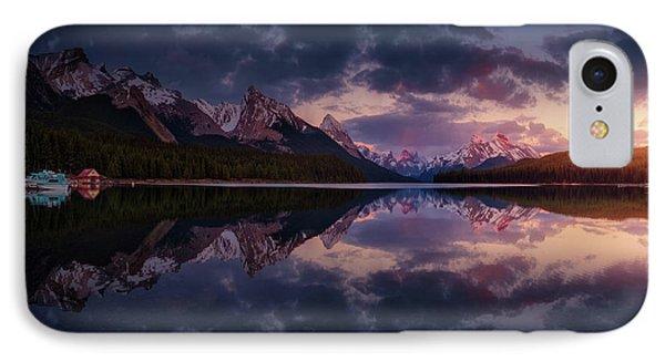 Rocky Mountain iPhone 7 Case - Maligne Mountains by Juan Pablo De