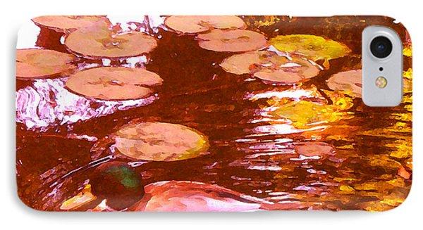 Mallard Duck On Pond 3 Square Phone Case by Amy Vangsgard