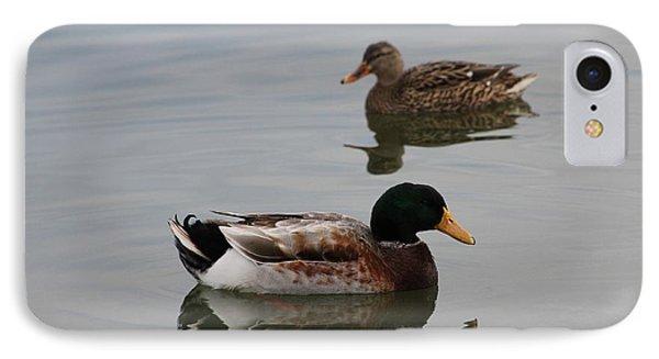 IPhone Case featuring the photograph Mallard Ducks Reflecting by Robert Banach