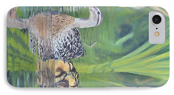 Mallard Hen And Young IPhone Case