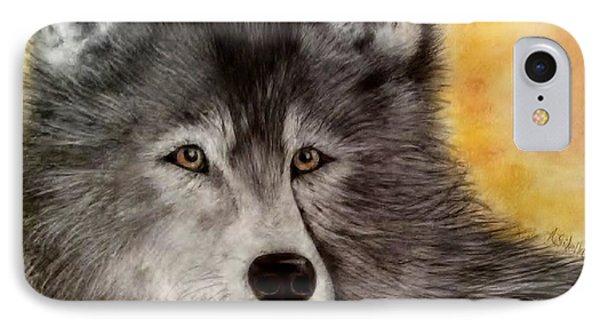 Mama Wolf IPhone Case by Annamarie Sidella-Felts