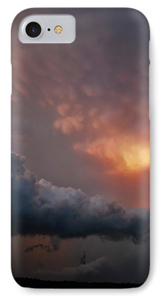 IPhone Case featuring the photograph Mammatus At Sunset by Ed Sweeney