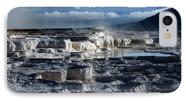 Mammoth Hot Springs, Yellowstone IPhone Case by Michel Hersen