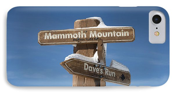 Mammoth Mountain Sign In Mono County IPhone Case by Carol M Highsmith
