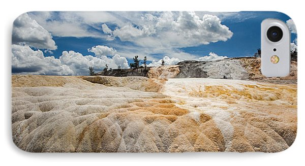 IPhone Case featuring the photograph Mammouth Terraces by Jack Bell