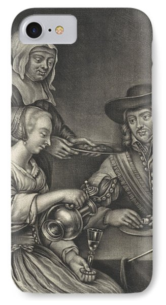 Man And A Woman At The Table, Anonymous, Jan Van Somer IPhone Case