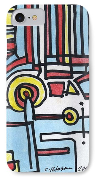 Man And His Car IPhone Case by Cathy Peterson