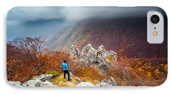 Man And The Mountain Phone Case by Evgeni Dinev