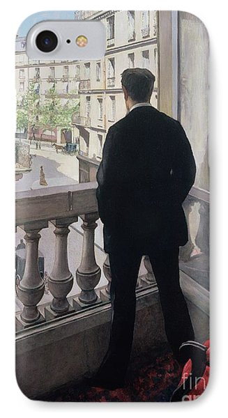 Man At The Window IPhone Case by Gustave Caillebotte