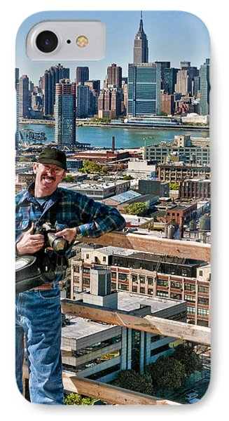 Man At Work IPhone Case by Steve Sahm