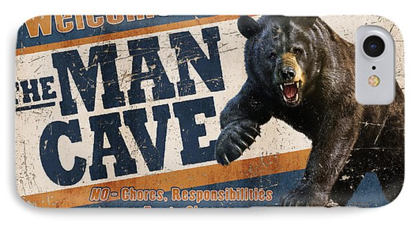 Man Cave Balck Bear IPhone Case