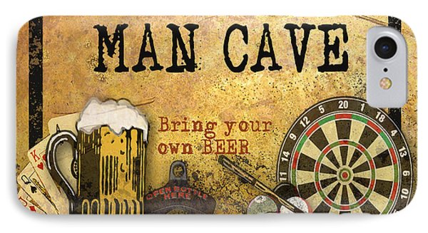 Man Cave-bring Your Own Beer IPhone Case by Jean Plout