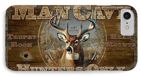 IPhone Case featuring the painting Man Cave Deer by JQ Licensing
