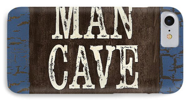 Man Cave Enter At Your Own Risk Phone Case by Debbie DeWitt