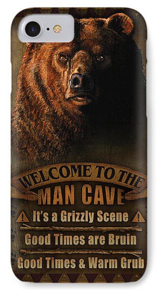 Pheasant iPhone 7 Case - Man Cave Grizzly by JQ Licensing