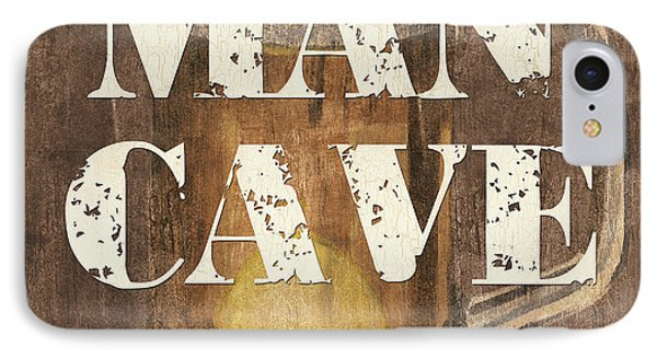 Man Cave My Cave My Rules Phone Case by Debbie DeWitt