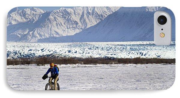 Man Fat Tire Mountain Biking On The IPhone Case