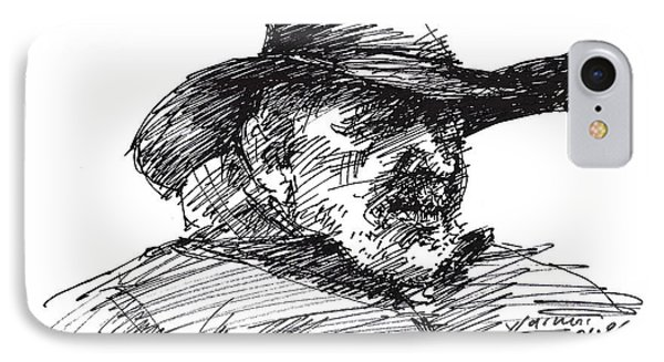 Man In A Cowboy Hat IPhone Case
