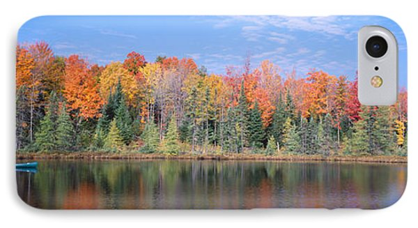 Man In Canoe Nr Antigo Wi Usa IPhone Case by Panoramic Images