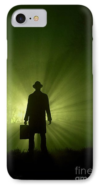 IPhone Case featuring the photograph Man In Light Beams by Lee Avison