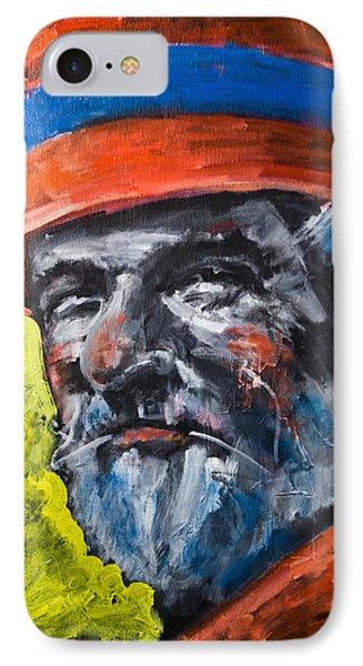Man In Red Hat IPhone Case by Maxim Komissarchik