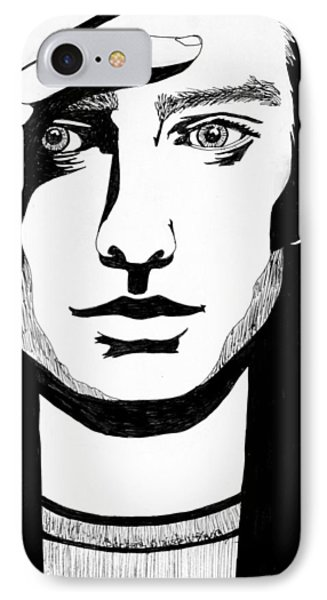 Man In Thought IPhone Case