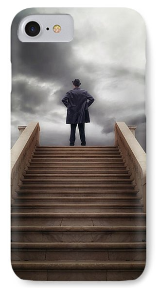 Man On Stairs IPhone Case by Joana Kruse