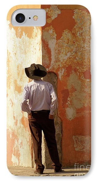 IPhone Case featuring the photograph Man On The Corner Antigua Guatemala by John  Mitchell