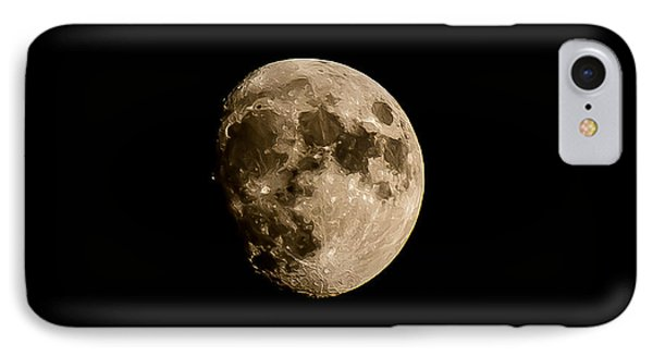 Man On The Moon IPhone Case by Michael Canning