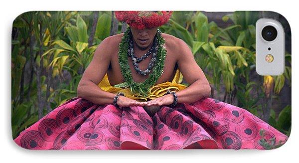 Man Performing Ancient Hula IPhone Case by Lori Seaman