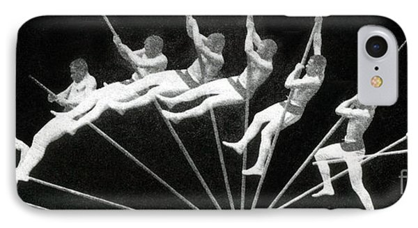 Man Pole Vaulting 1884 Phone Case by Nypl